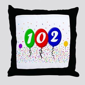 102nd Birthday Throw Pillow