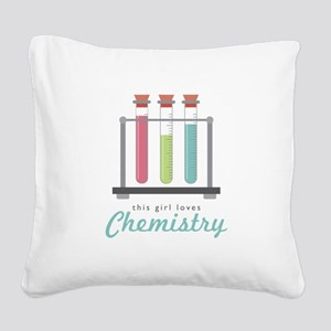 Love Chemistry Square Canvas Pillow
