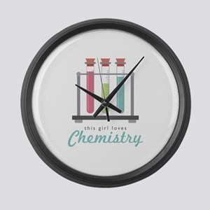 Love Chemistry Large Wall Clock