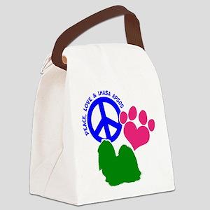 P,L, LHASA APSO Canvas Lunch Bag