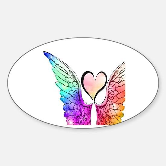 Angel Wings Heart Decal
