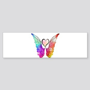 Angel Wings Heart Bumper Sticker