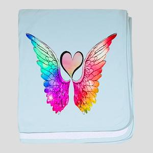 Angel Wings Heart baby blanket
