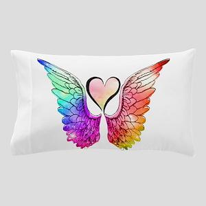Angel Wings Heart Pillow Case