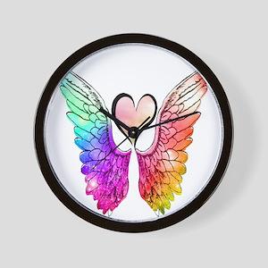 Angel Wings Heart Wall Clock