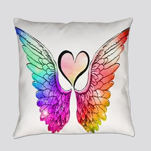 Angel Wings Heart Everyday Pillow
