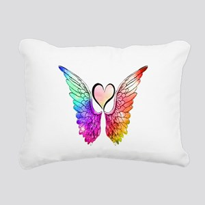 Angel Wings Heart Rectangular Canvas Pillow