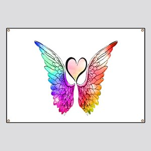 Angel Wings Heart Banner