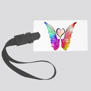 Angel Wings Heart Large Luggage Tag