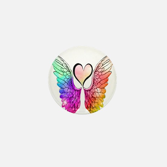 Angel Wings Heart Mini Button