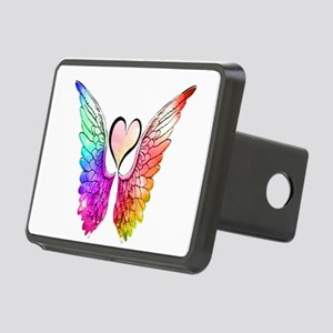 Angel Wings Heart Rectangular Hitch Cover
