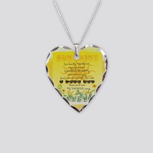 Sunshine Song Necklace Heart Charm