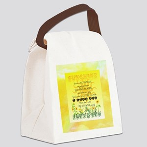 Sunshine Song Canvas Lunch Bag