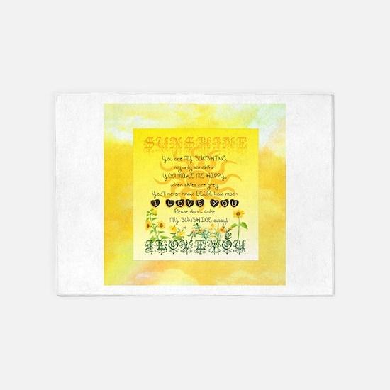 Sunshine Song 5'x7'Area Rug