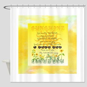 Sunshine Song Shower Curtain