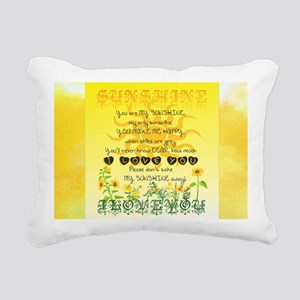 Sunshine Song Rectangular Canvas Pillow