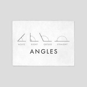 Angles 5'x7'Area Rug