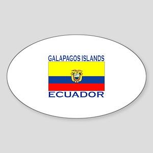 Galapagos Islands, Ecuador Oval Sticker