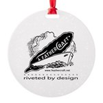 Riveted By Design Round Ornament