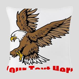 Bald Eagle Woven Throw Pillow