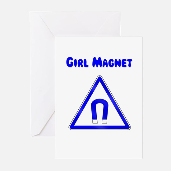 Girl Magnet Greeting Cards (Pk of 20)
