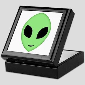 Friendly Alien Head Keepsake Box