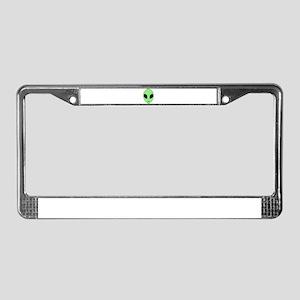 Friendly Alien Head License Plate Frame