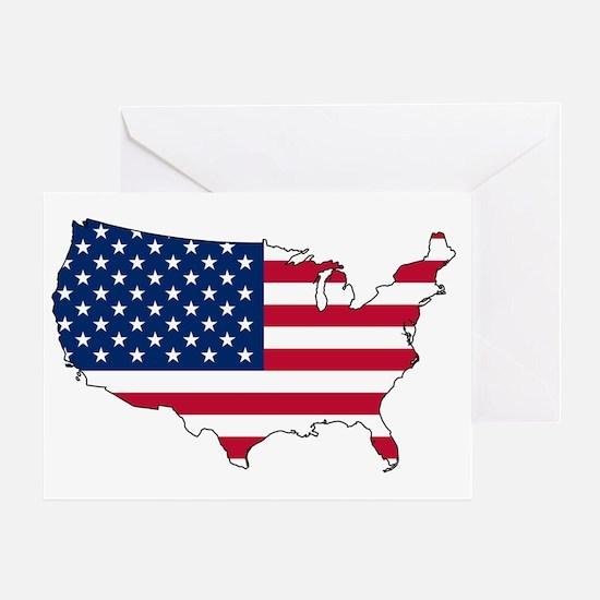 Unique Usa flag Greeting Card