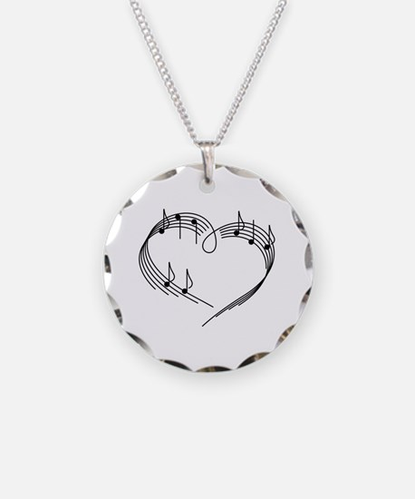 Cute Music Necklace Circle Charm