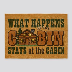Happens At The Cabin 5'x7'area Rug