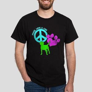 PEACE,LOVE,LABS Dark T-Shirt