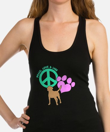 PEACE,LOVE,LABS Racerback Tank Top