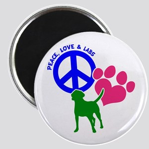 PEACE,LOVE,LABS Magnet