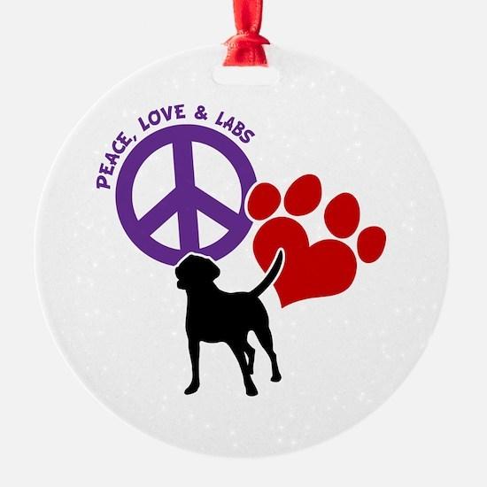 PEACE,LOVE,LABS Ornament