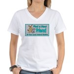 Find a New Friend Women's V-Neck T-Shirt