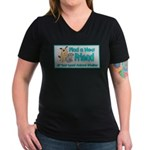 Find a New Friend Women's V-Neck Dark T-Shirt