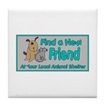 Find a New Friend Tile Coaster
