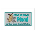 Find a New Friend Postcards (Package of 8)