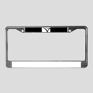 Karate Kick License Plate Frame