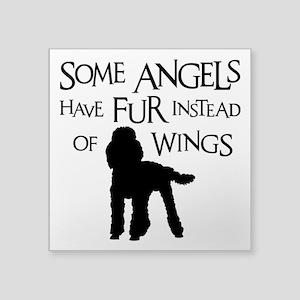 "Poodle Angel Square Sticker 3"" x 3"""