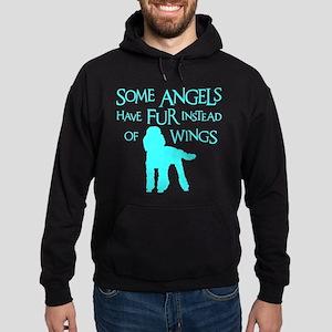 Poodle Angel Hoodie (dark)