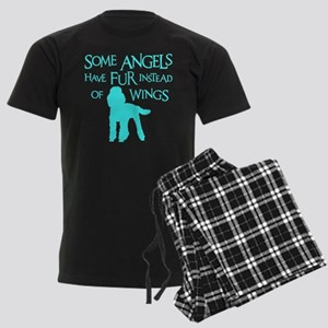 Poodle Angel Men's Dark Pajamas