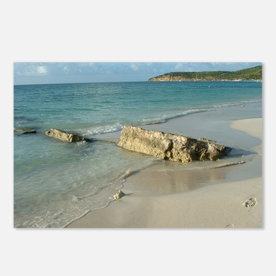 Unique Foots prints in the sand Postcards (Package of 8)
