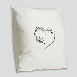 Music Lover Burlap Throw Pillow