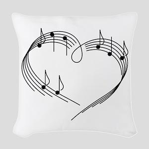 Music Lover Woven Throw Pillow