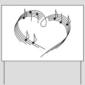 Music Lover Yard Sign