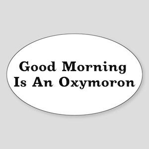 Oxymoron Oval Sticker