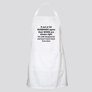9 out of 10 HUSBANDS Apron
