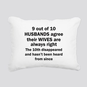 9 out of 10 HUSBANDS Rectangular Canvas Pillow