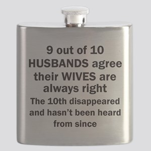 9 out of 10 HUSBANDS Flask